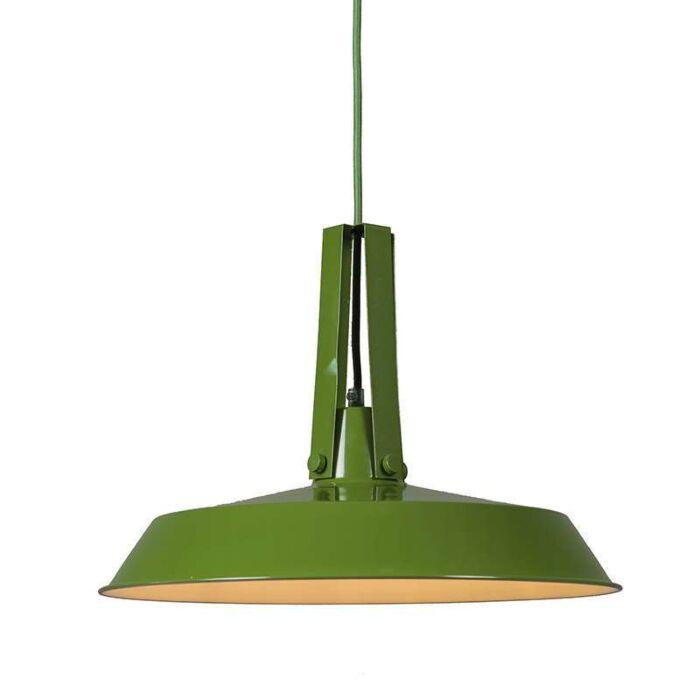 Taklampa-'Living-40'-Retro-grön/metall---Passande-för-LED-/-Inomhus