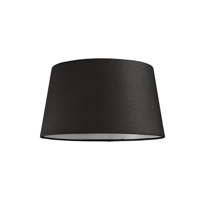 Lampskärm-'30cm-R-SU-E27'-Nej-svart/tyg-Passande-för-LED