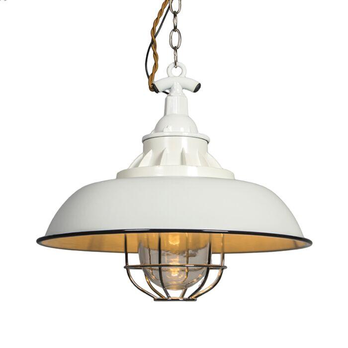 Nautisk-taklampa-'Strijp-S'-Lantlig-vit/metall---Passande-för-LED-/-Inomhus