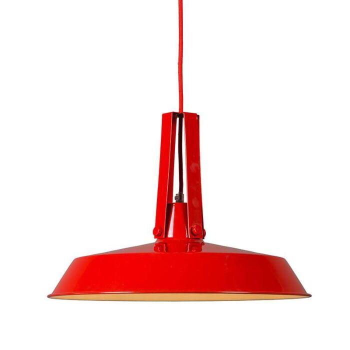Taklampa-'Living-40'-Retro-röd/metall-Passande-för-LED