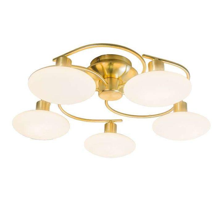 Plafond-'Saturno-5'-Klassisk-guld---Passande-för-LED-/-Inomhus