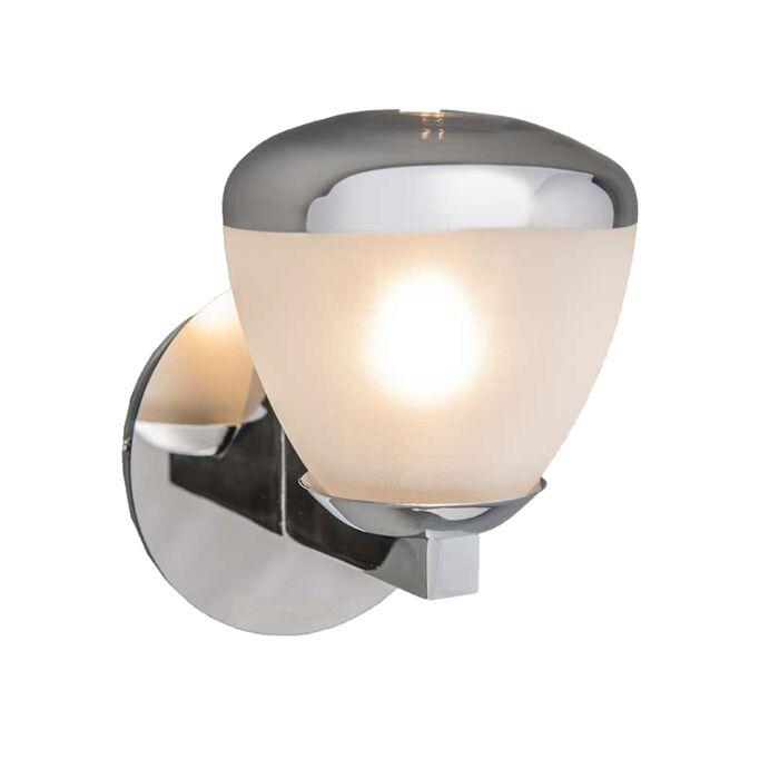 Vägglampa-'Jaws-I'-Moderna-krom/rostfritt-stål---Passande-för-LED-/-Inomhus,-Badrum