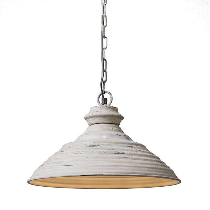 Taklampa-'Iron-I'-Lantlig-grå/metall---Passande-för-LED-/-Inomhus