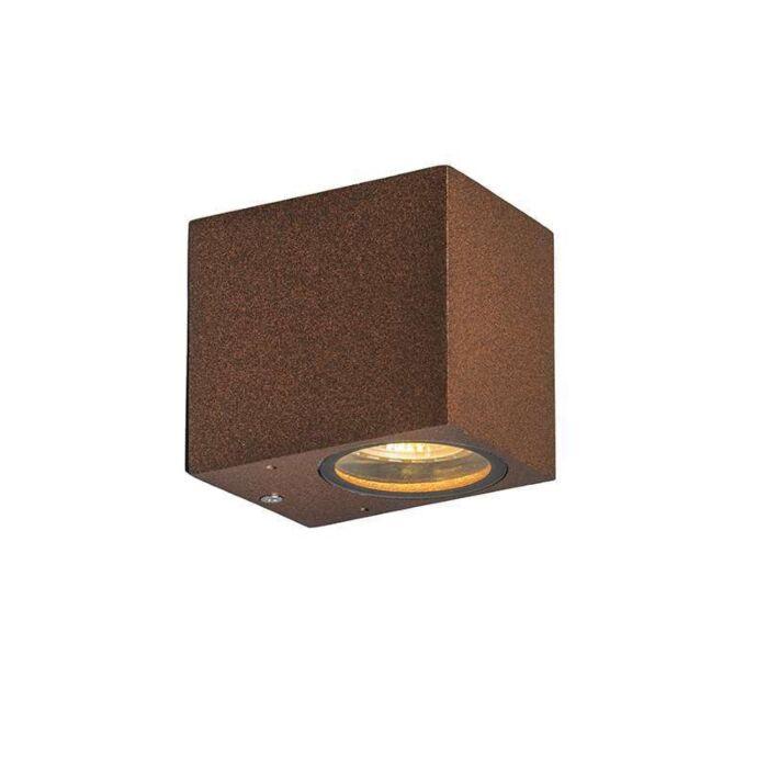 Industriell-vägglampa-rostbrun-IP44---Baleno-I