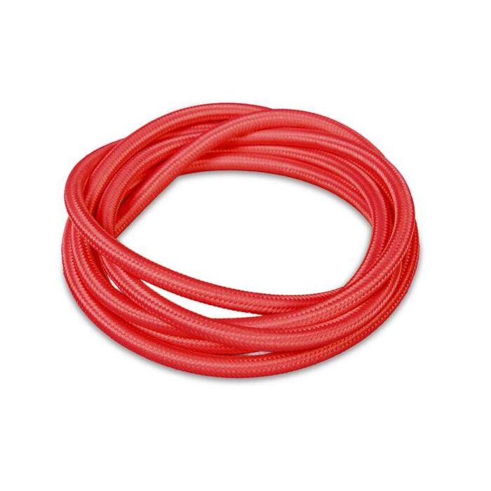 Kabel-'1m'-Nej-röd/tyg