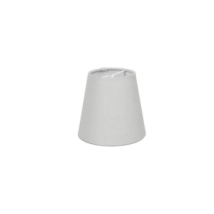Skärm-med-glödlampsfäste-'10cm-R-SC'-Nej-vit/tyg