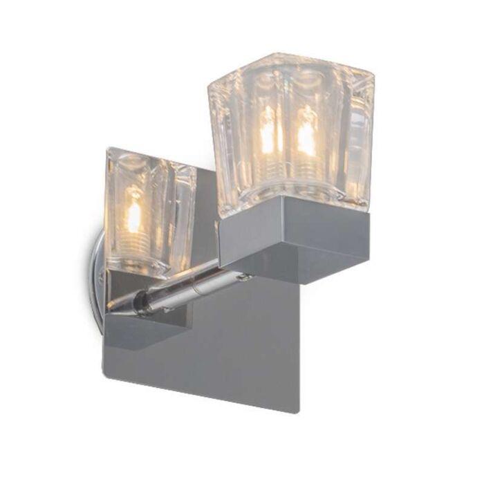 Plafond-strålkastare-'Clou-1'-Moderna-krom/rostfritt-stål---Passande-för-LED-/-Inomhus,-Badrum