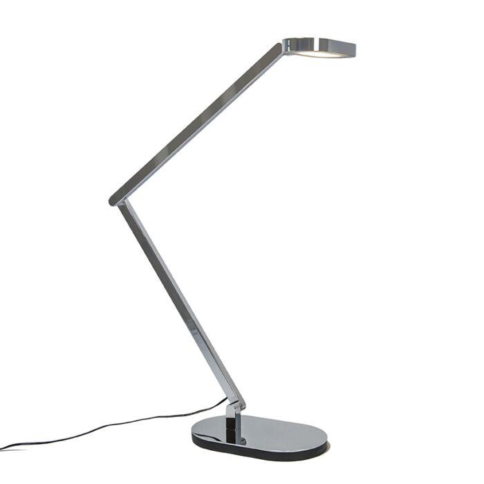 Bordslampa-med-dimmer-'Lettera'-Moderna-krom---LED-inkluderat-/-Inomhus