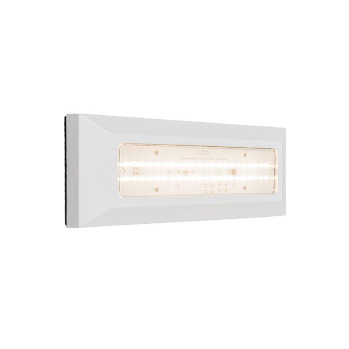 Vägglampa-'Brick'-Moderna-vit/polyester---LED-inkluderat-/-Utomhuslampa,-Inomhus