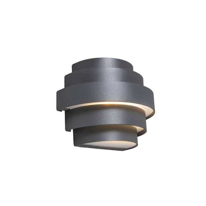 Vägglampa-'Bolster'-Moderna-grafit/aluminium---LED-inkluderat-/-Utomhuslampa,-Inomhus