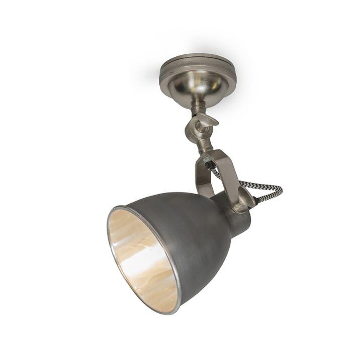 Vägglampa-Retro-Grafit/Aluminium---Dazzle