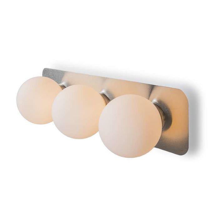 Vägglampa-'Kate-III'-Moderna-rostfritt-stål-Inomhus,-Badrum