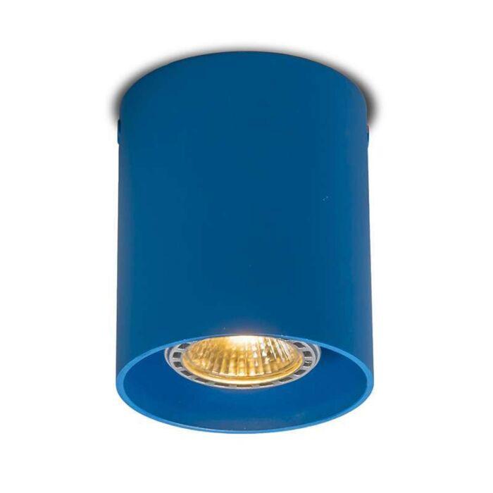 Plafond-strålkastare-'Tubo-1'-Moderna-blå/aluminium---Passande-för-LED-/-Inomhus