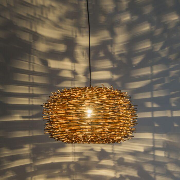 Lantlig-hängande-lampa-brun-rotting---Hatch-45