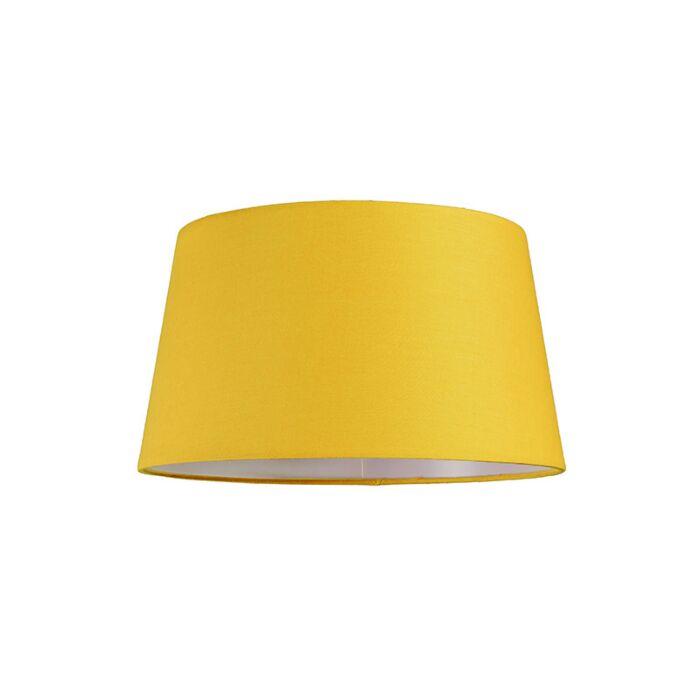 Lampskärm-'30cm-R-SU-E27'-Nej-gul/tyg-Passande-för-LED