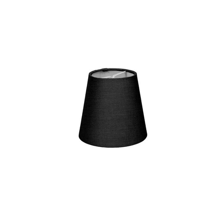 Skärm-med-glödlampsfäste-'10cm-R-SC'-Nej-svart/tyg