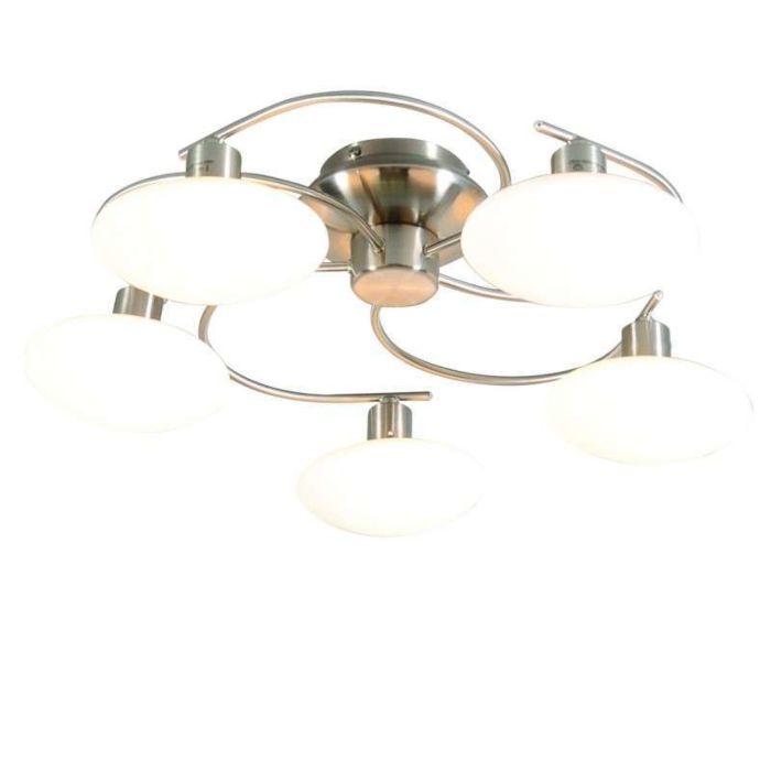 Plafond-'Saturno-5'-Moderna-stål---Passande-för-LED-/-Inomhus