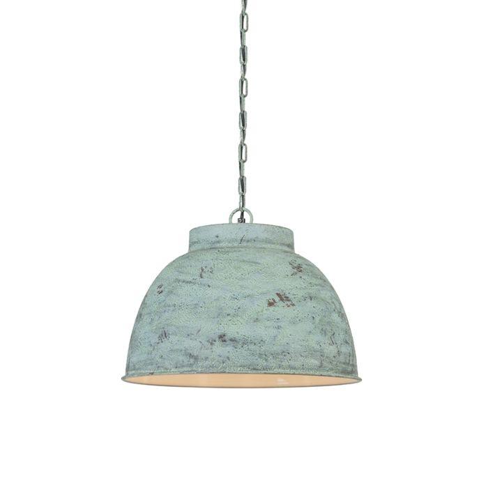Taklampa-'Vintage-L'-Lantlig-grön/metall---Passande-för-LED-/-Inomhus
