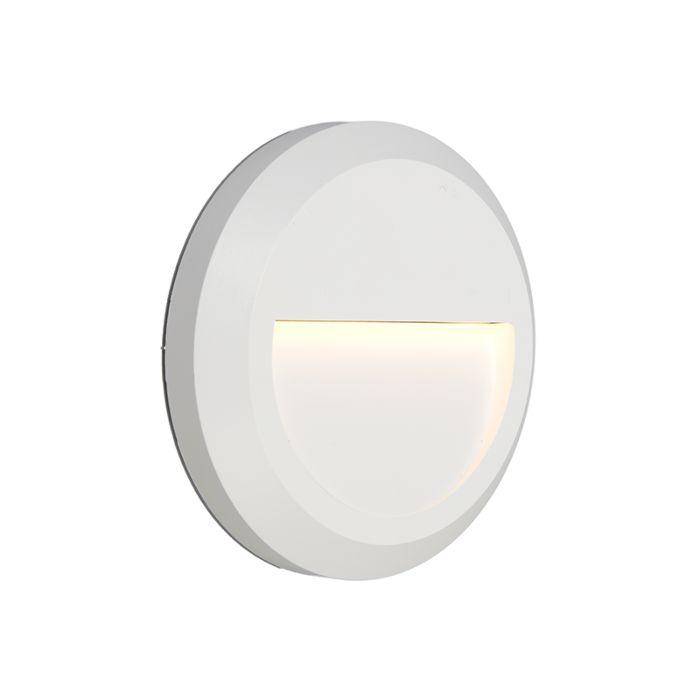 Vägglampa-'Moonlight'-Moderna-vit/polyester---LED-inkluderat-/-Utomhus,-Inomhus,-Badrum