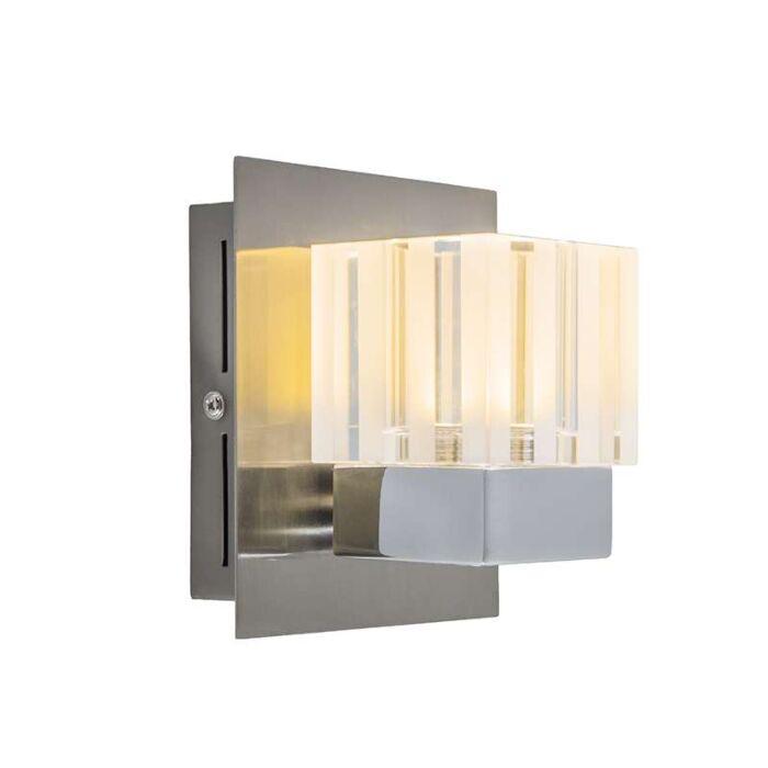 Vägglampa-'Dice-1'-Moderna-stål---LED-inkluderat-/-Inomhus