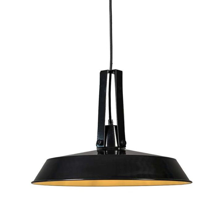 Taklampa-'Living-40'-Retro-svart/metall---Passande-för-LED-/-Inomhus