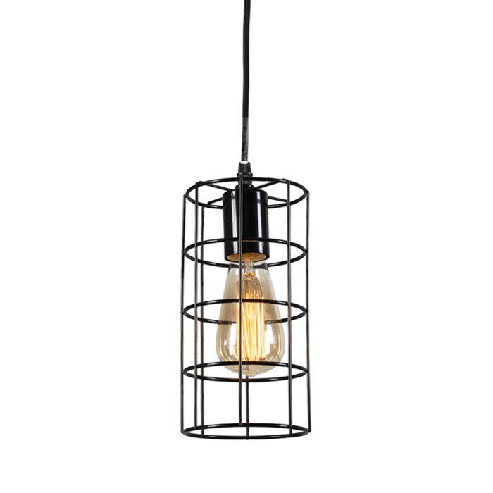 Minimalistisk-taklampa-'Frame-C'-Moderna-svart/metall-Passande-för-LED