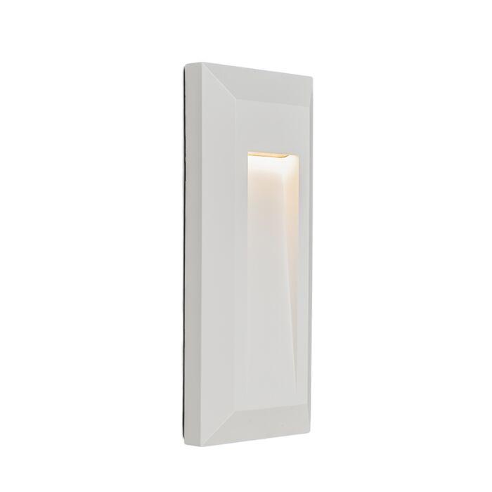 Vägglampa-'Rock-2'-Moderna-vit/polyester---LED-inkluderat-/-Utomhus,-Inomhus,-Badrum
