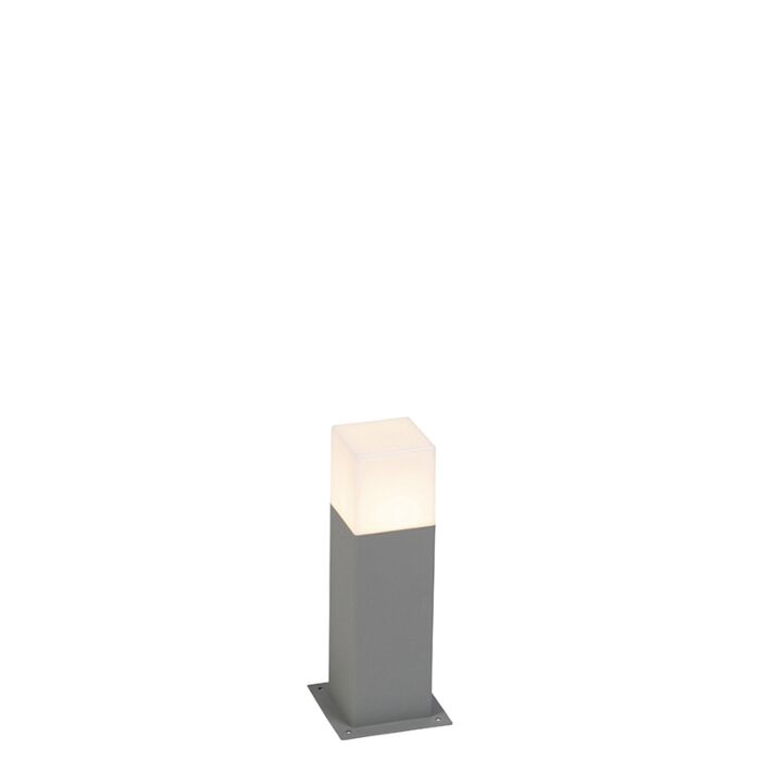 Modern-stående-utomhuslampa-30-cm-grå-IP44---Danmark