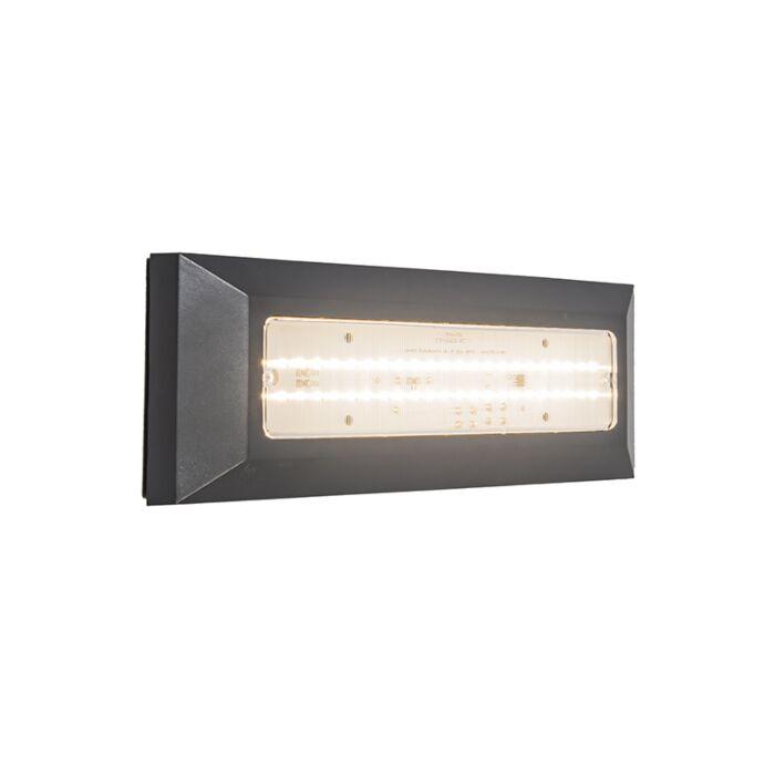 Vägglampa-'Brick'-Moderna-grafit/polyester---LED-inkluderat-/-Utomhuslampa,-Inomhus