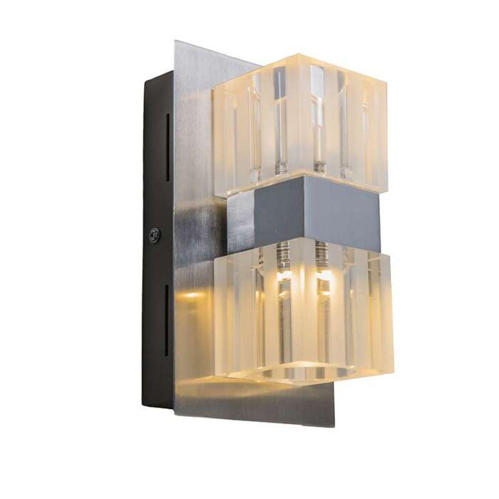 Vägglampa-'Dice-2'-Moderna-stål---LED-inkluderat-/-Inomhus