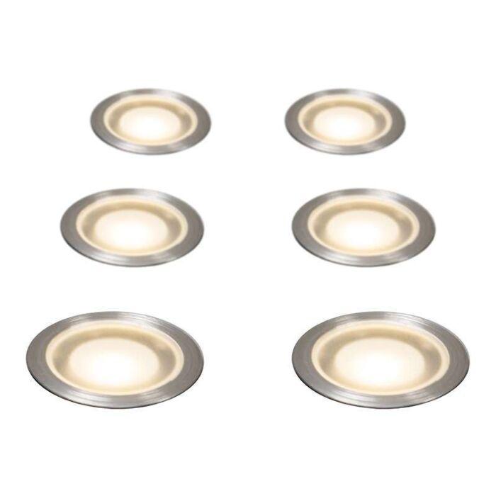Set-med-6-Försänkta-Spotlights-IP54-WW---Guard-