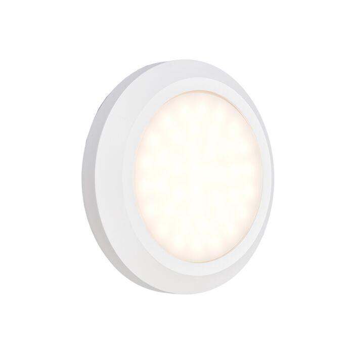 Vägglampa-'Daystar'-Moderna-vit/polyester---LED-inkluderat-/-Utomhus,-Inomhus,-Badrum