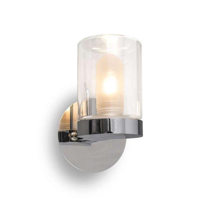 Vägg-och-plafond-strålkastare-'Giulia-1'-Moderna-krom/rostfritt-stål---Passande-för-LED-/-Inomhus,-Badrum
