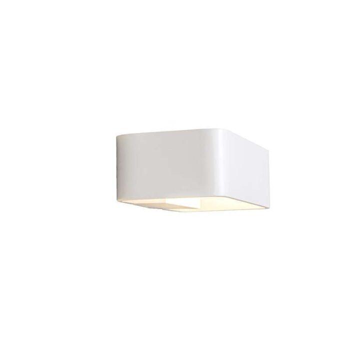 Vägglampa-'Orion-2'-Moderna-vit/aluminium-LED-inkluderat