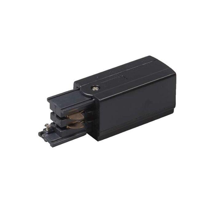 3-fas-samlingsskena-ström-'L'-Moderna-svart/polyester-Inomhus