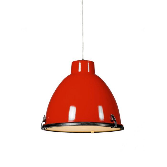 Taklampa-'Anteros-38'-Industriell-röd/metall---Passande-för-LED-/-Inomhus