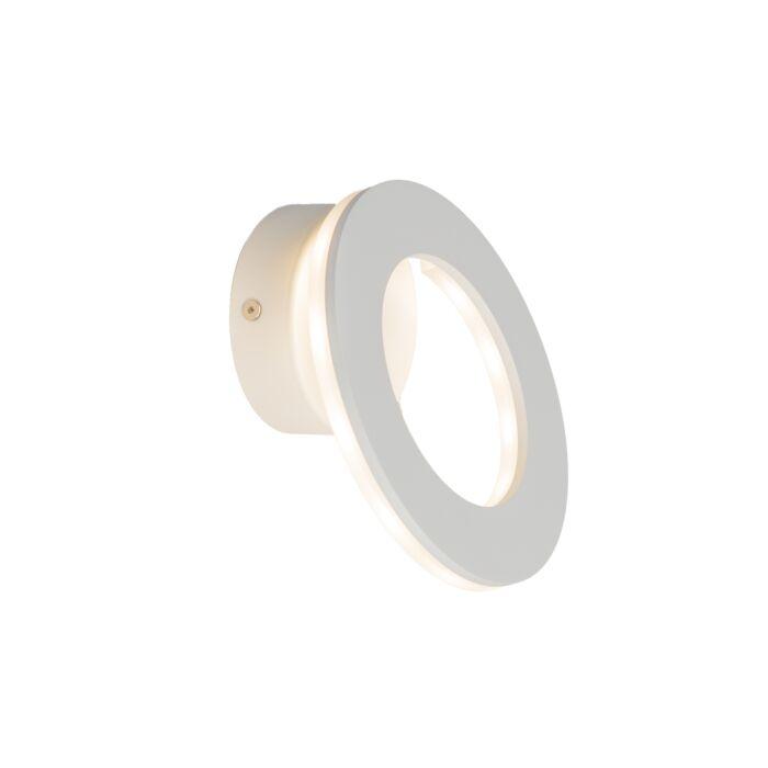 Vägglampa-'Halo'-Moderna-vit/aluminium---LED-inkluderat-/-Inomhus