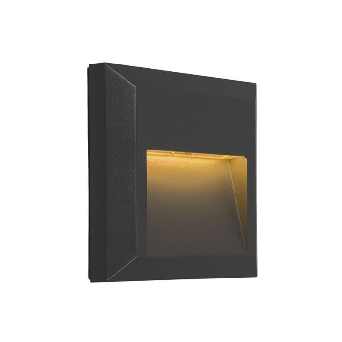Modern-Vägglampa-Mörkgrå-inkl.-LED---Gem-2