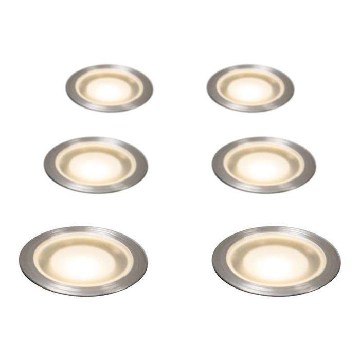 Set-med-6-försänkta-Spotlights-IP67---Guard