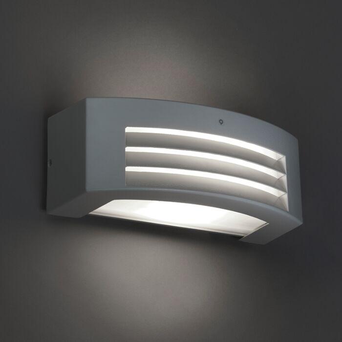Modern-vägglampa-ljusgrå-IP44---Hurricane-1