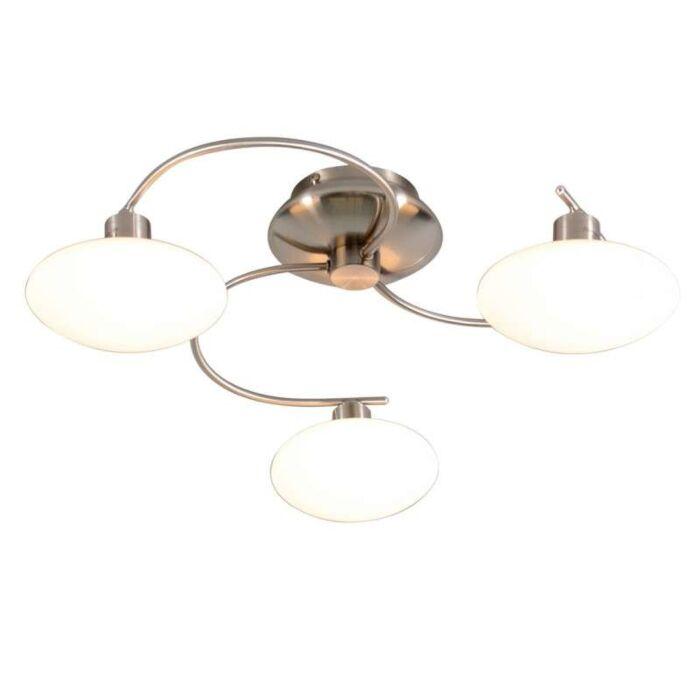Plafond-'Saturno-3'-Moderna-stål---Passande-för-LED-/-Inomhus
