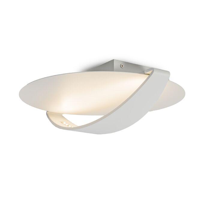 Plafond-och-vägglampa-'Satellite-2'-Moderna-vit/aluminium---LED-inkluderat-/-Inomhus,-Badrum