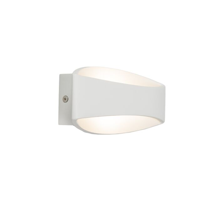 Vägglampa-'Satellite-'-Moderna-vit/aluminium---LED-inkluderat-/-Inomhus