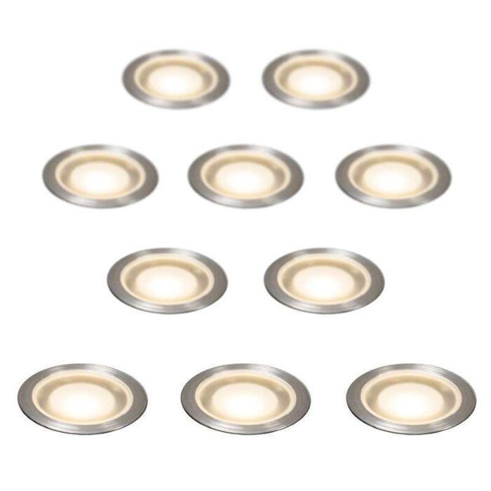 Set-med-10-försänkta-Spotlights-IP54-WW---Guard