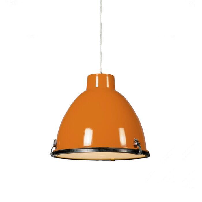 Taklampa-'Anteros-38'-Industriell-orange/metall---Passande-för-LED-/-Inomhus