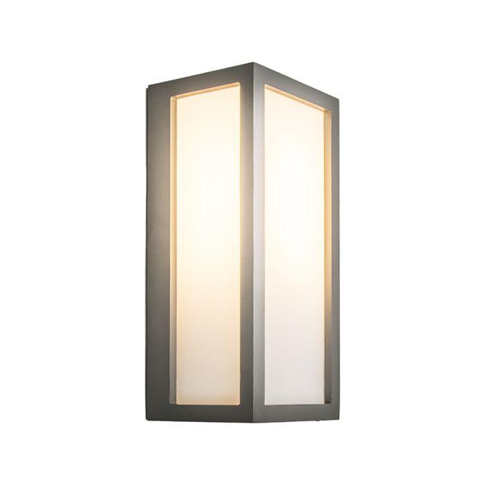 Vägglampa-'Angle-2'-Moderna-grafit/aluminium---Passande-för-LED-/-Utomhus