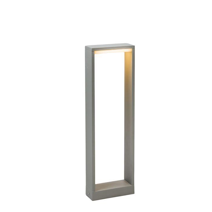 Lykta-till-gång-och-terrass-'Frame-50'-Design-grå/aluminium---LED-inkluderat-/-Utomhuslampa