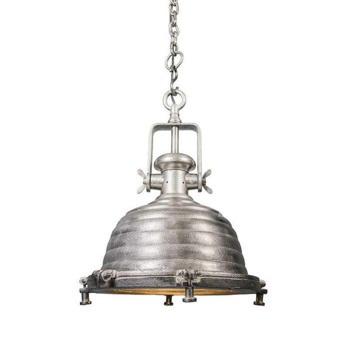 Taklampa-'Fort-Raw-L'-Industriell-stål/nickel---Passande-för-LED-/-Inomhus