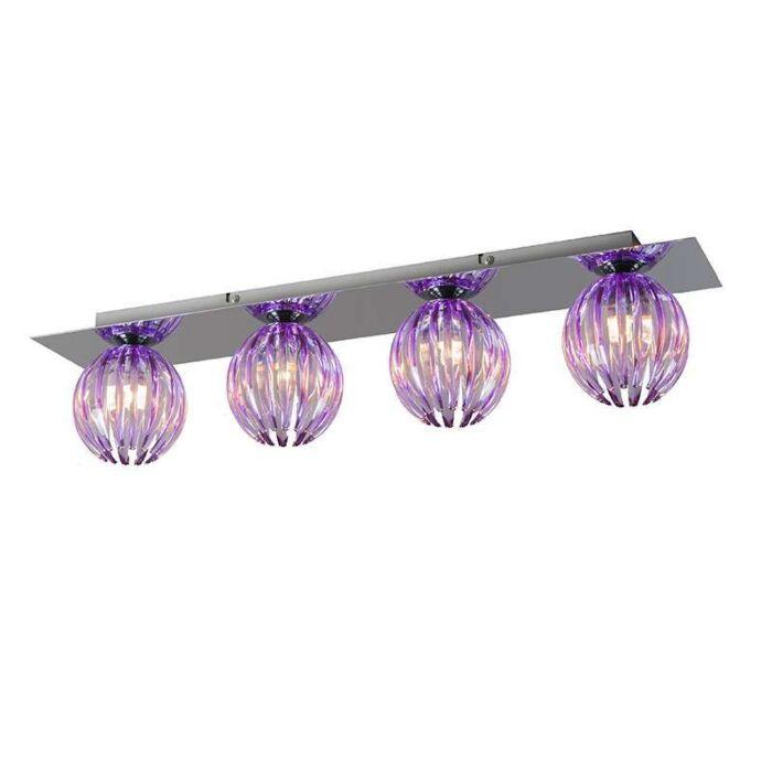 Plafond-'Shine-4'-Moderna-krom---Passande-för-LED-/-Inomhus