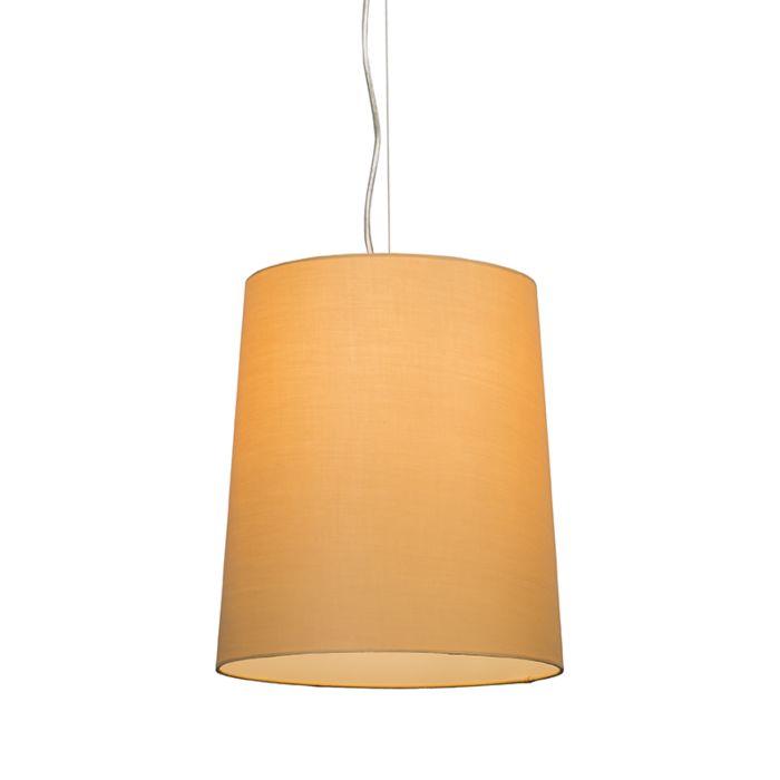 Taklampa-'Cappo-1'-Lantlig-beige/tyg---Passande-för-LED-/-Inomhus